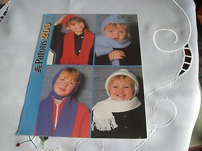 Knitting  Pattern for 4 hats and Scarves age 1-11