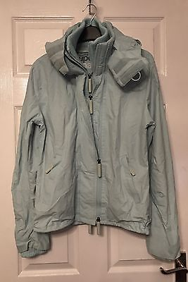 Superdry Wind Cheater Pale Blue Women's Jacket Size M