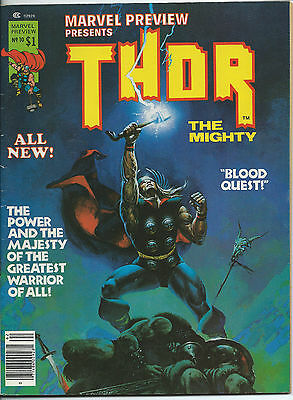 MARVEL PREVIEW 10 THOR ( Marvel Comics, 1977, FN to VFN condition) STARLIN art
