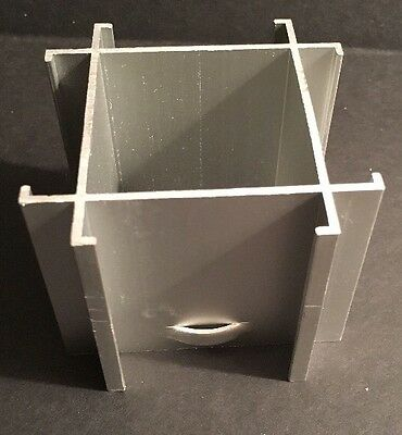 "Office Modular Panel 4-Way 1.5"" Joining Cap Assembly Cubical Hardware Connector"