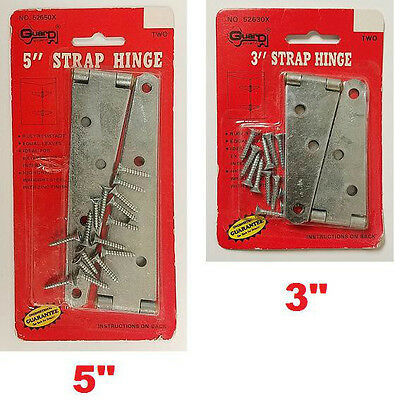 LOT OF 1x OR 2x UTILITY STEEL STRAP HINGES SECURITY BARN DOORS GATES STORAGE