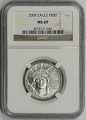 2005 Statue of Liberty Half-Ounce Platinum American Eagle $50 MS 69 NGC 1/2 oz