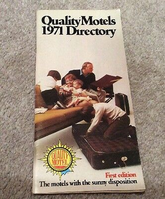Hotel Directory For Quality Courts Motels 1971 First Edition