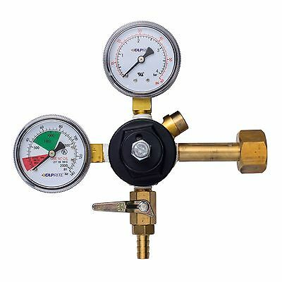"Taprite 3741-BR Primary CO2 Regulator with 5/16"" Shutoff"