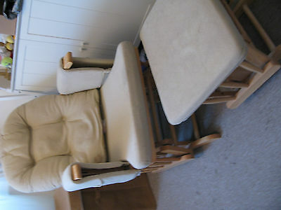 Huack glider nursing chair and footstool