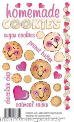 Rub On Transfers Homemade COOKIE JAR LABELS Acid Free Card Making STE1440