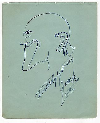GROCK 1880-1959 Swiss clown, composer & musician. Signed self-portrait.
