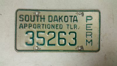 EXPIRED SOUTH DAKOTA Permit Apportioned Trailer License Plate 35263