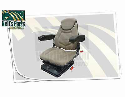 Seat Assembly, FAA1220, Air Ride, Head Rest, Armrests, Lumbar, Brown Fabric