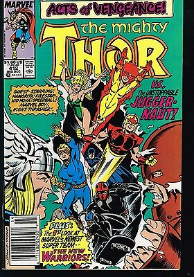 Mighty Thor # 412 VF First Appearance of New Warriors Key Marvel Comics