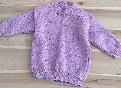 Girls Knitted Jumper Aprox Size 4 Never Used.
