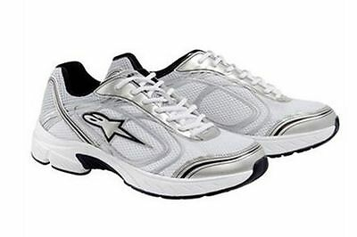 Alpinestars Crew Shoes White/Silver Trainers / Training Shoe