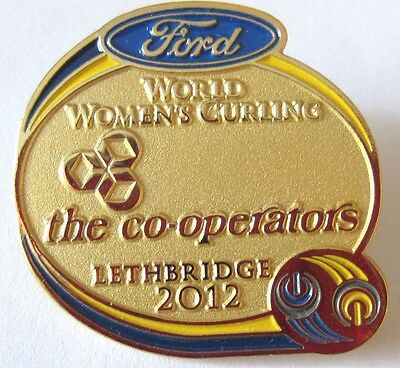 WORLD WOMEN`s  CURLING LETHBRIDGE 2012  FORD & CO-OP sponsor pin