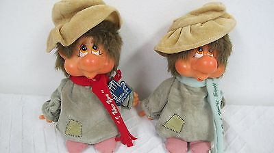 Hobo Applause Doll Figures (2) Vintage I Think Your Swell I Wuv You 1982