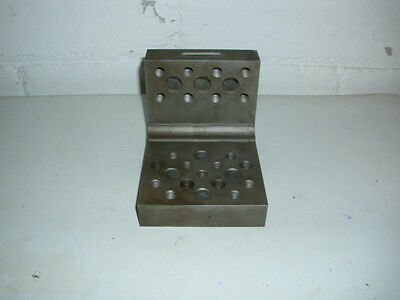 """Machinist 90 Degree Angle Block Plate,Jig, with Threaded Holes 5"""" x 4"""" x 4"""""""