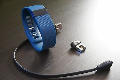 Fitbit Charge Activity Tracker Wristband in Blue, Size Small