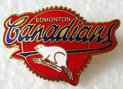 Edmonton Canadians Pin with beaver