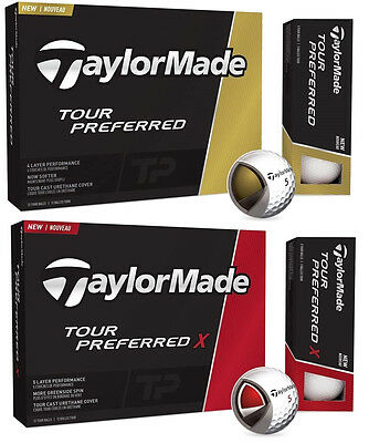 New 2017 Taylormade Tour Preferred Or Tp X Golf Balls - Pick 2, 4, Or 6 Dozen