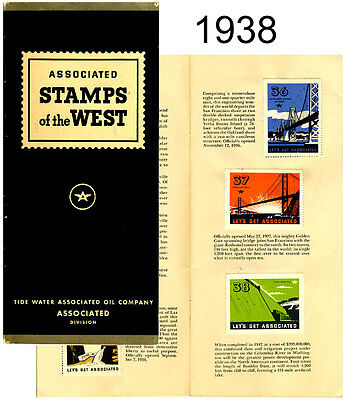 Vintage 1938 Tide Water Associated Oil Co. Stamps of the West Booklet