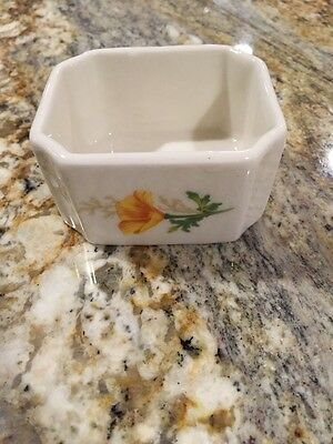 Santa Fe California Poppy Pattern Sugar Caddy Unused Railroad Rail Road