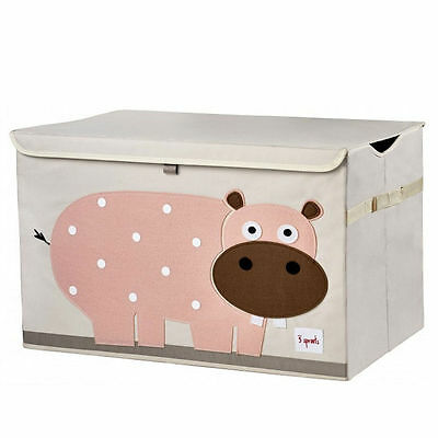 NEW 3 Sprouts Toy Storage Box Chest Organiser Pink Hippo #`3S-TSHIP