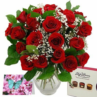 Clare Florist Promised Roses Fresh Flower Bouquet Gift Set - Valentine's Day and