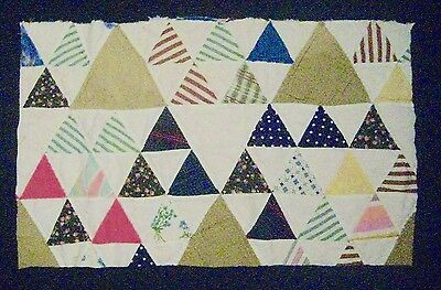 "Vintage Cutter Quilt Piece for Repurpose -20""w x 12""h"