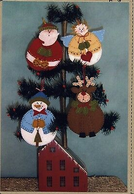ROLY-POLY WOOLEN ORNAMENTS HAND EMBROIDERY PATTERN, From Bird Brain Designs NEW
