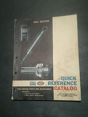 Vintage 1964 Ford FoMoCo Quick Reference Catalog