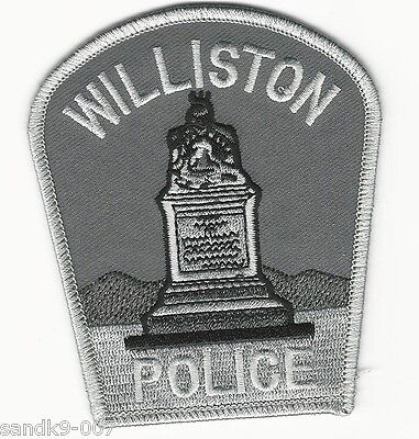 Williston Police State of VERMONT VT Shoulder Patch Subdued