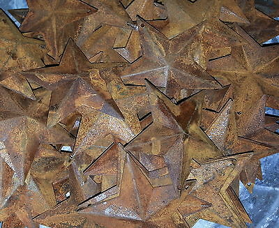 """Rusty 2.25"""" (2-1/4"""") Country Stars, 3D, Rusted, Hang Hold Star, Lot of 100"""