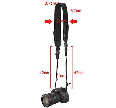 JJC NS-Q2 Neoprene with 2pockets Shoulder fatigue Neck Strap for DSLR Camera