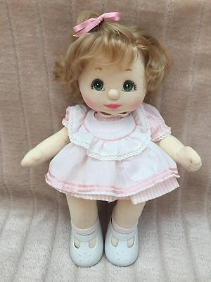 My Child Doll Ash Blonde Top Knot Green Charcoal Minty Condition
