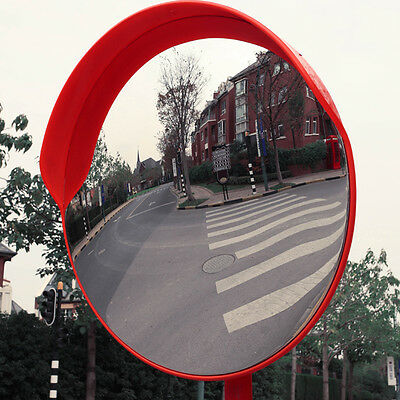 Wide 45cm Angle Security Curved Convex Road PC Mirror Traffic Driveway Safety