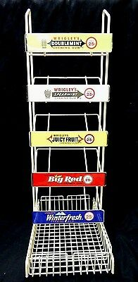 Vintage Wire Metal Wrigley's Chewing Gum Store Counter Display Rack
