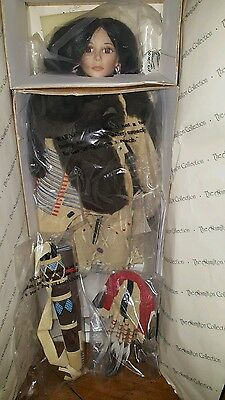 Native American Porcelain Doll the Hamilton Collection