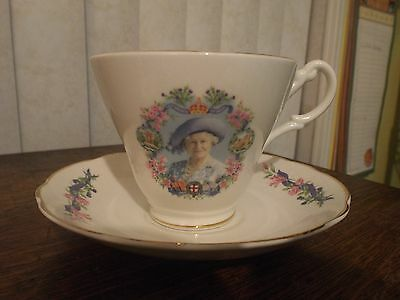 Collectible Tea Cup and Saucer Queen Elizabeth The Queen Mother