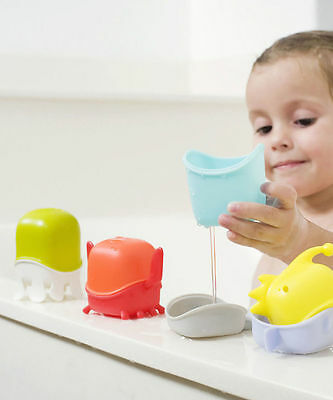 Boon Creature Cups Bath Time Toys #`B961