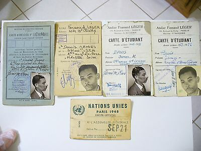 Vintage Id Cards French Identity Cards For American Student.