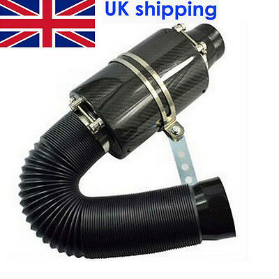 """FAST SHIP 3"""" Series Filter Box Carbon Fiber Induction Ram Cold Air Intake System"""