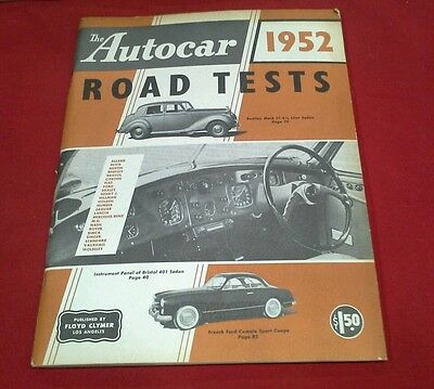 Floyd Clymer's Autocar 1952 Road Tests, 96 pages