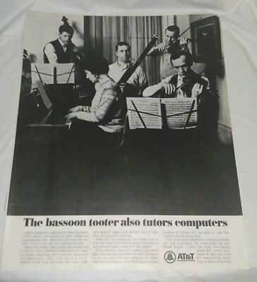 Vintage 1967 Bassoon Tooter Bell System AT&T Magazine Ad FREE SHIPPING