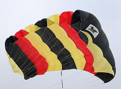 Pegasus 220 skydiving parachute canopy 7 cell F111 dacron lines - complete