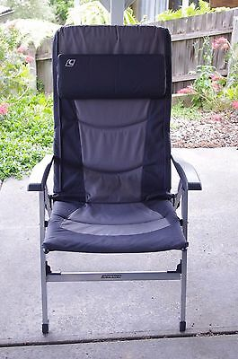 Champion Charcoal 8 position reclining chair with carry bag