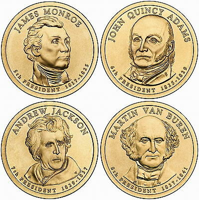 2008 (5th to 8th) US President - Four $1's Uncirculated Coin
