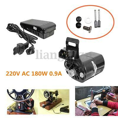 AU 220V 180W 0.9A Black Domestic Household Old Sewing Machine Motor + Controller