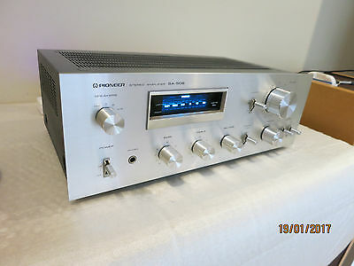 Vintage Pioneer Stereo Amplifier ~ Model Sa-508 With Matching Pioneer Tuner