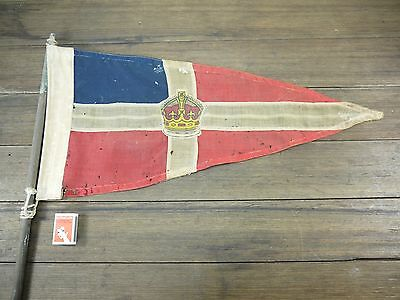 Very Scare Early 1900's VICTORIAN ROYAL YACHT CLUB Pennant Flag Amazing HIstory