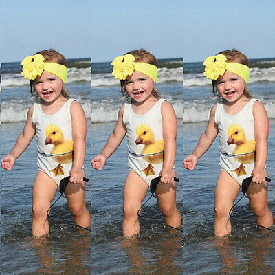 Toddler Kids Baby Girl One Piece Bikini Swimwear Swimsuit Bathing Suit Beachwear