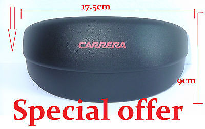 Genuine CARRERA Sunglasses Spectacles Medium Black Hard Case Stock clearance